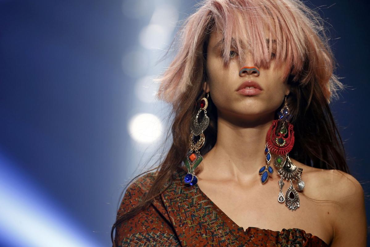 Model walks at Paris Fashion Week