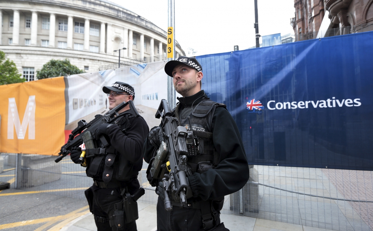 Conservative Party Conference: Angry protesters attack ...