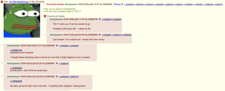 4chan Philly threat response