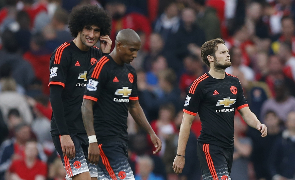 Marouane Fellaini, Ashley Young & Daley Blind