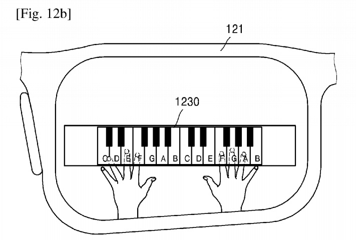 Play a virtual piano with smart glasses