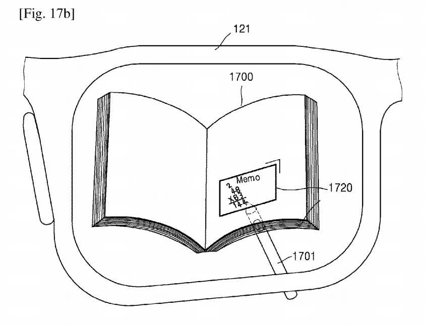 Writing a virtual note on smart glasses