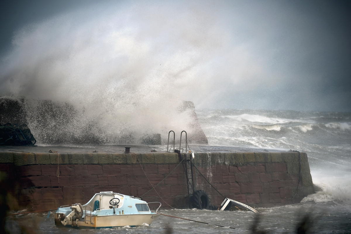 Stormy conditions batter the UK's shores