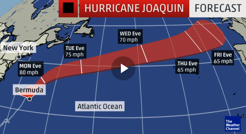 Hurricane Joaquin headed towards Britain