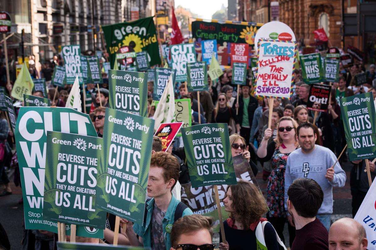 Cuts protest