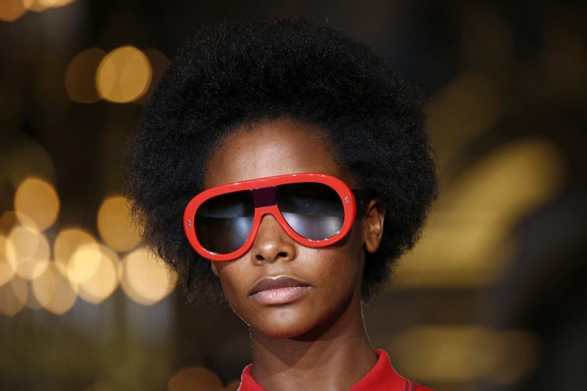 A model at Paris Fashion Week
