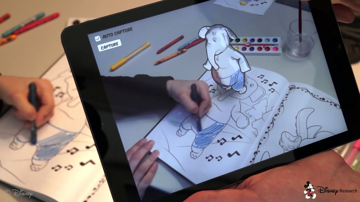 Disney augmented reality makes colouring into animations