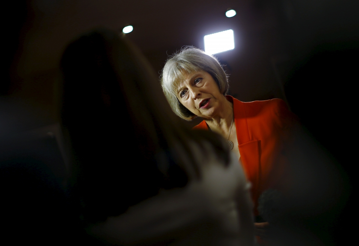 Theresa May at Conservative Party Conference