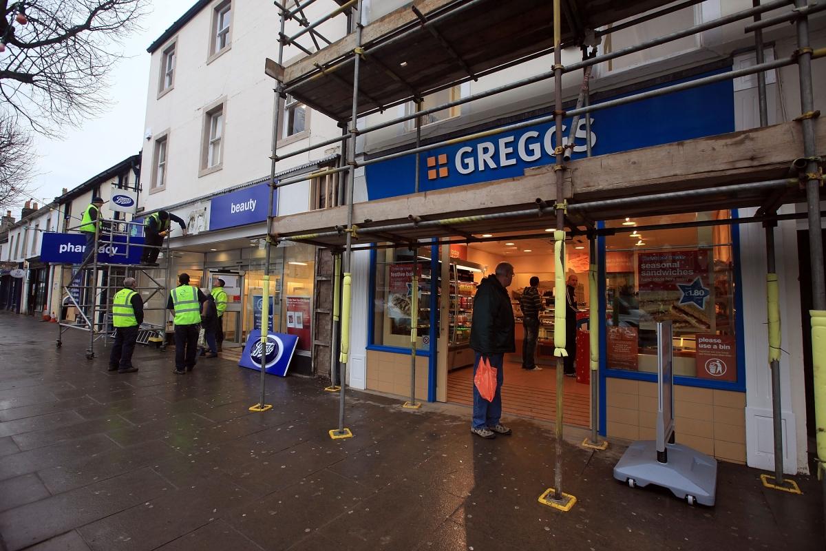 Greggs salexs up 5%