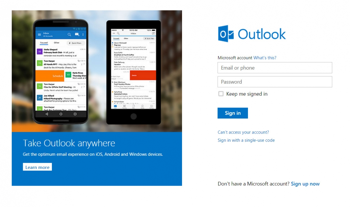 Outlook.com security concerns