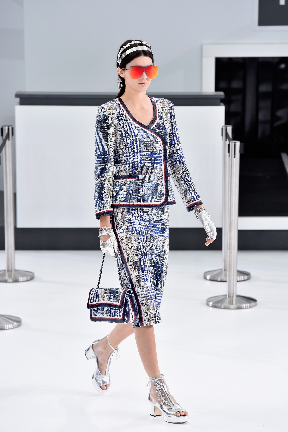 Kendall Jenner models for Chanel SS16