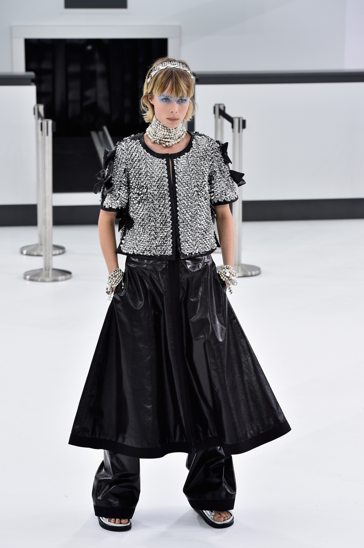 Edie Campbell models for Chanel SS16