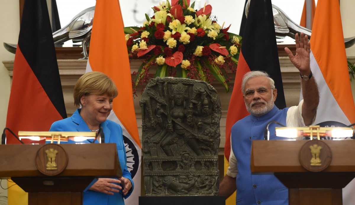 Angela Merkel returns stolen Durga statue