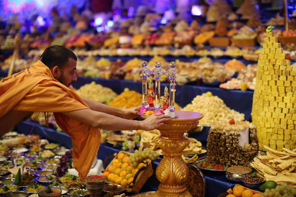 Diwali at Shri Swaminarayan Mandir in Neasden
