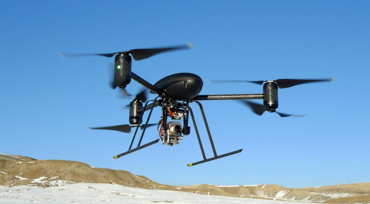 A black drone