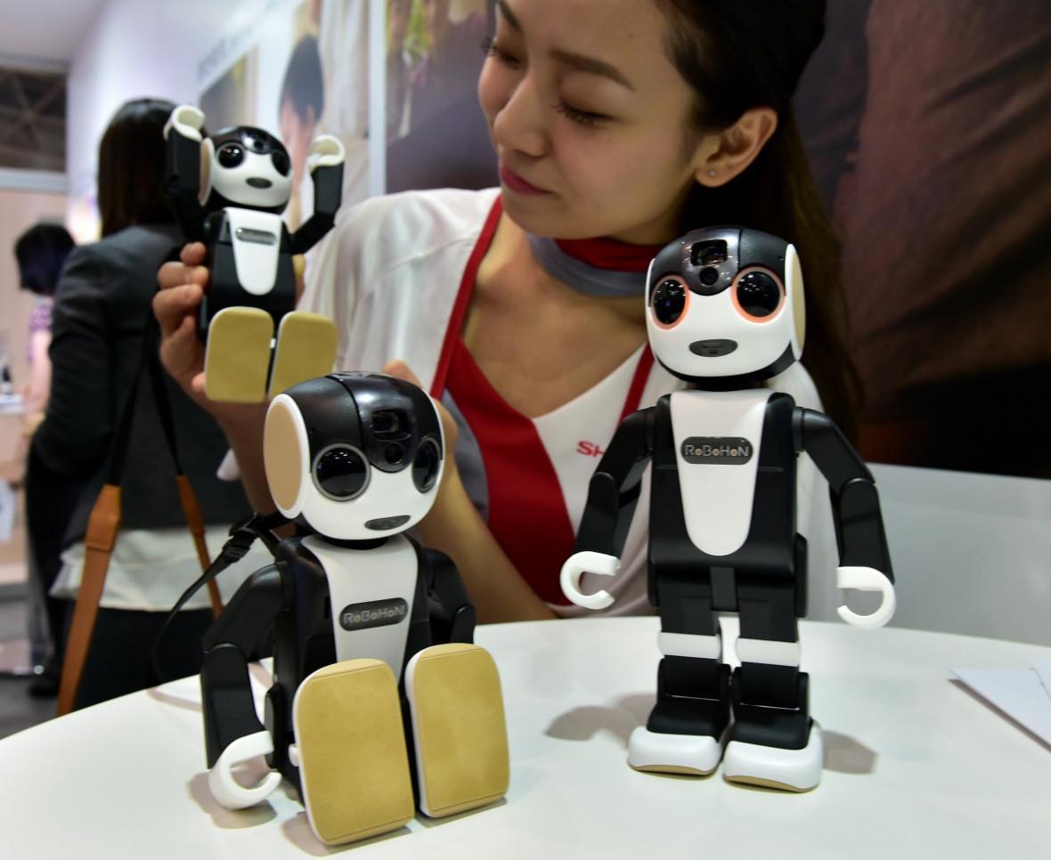 RoboHon doubles as a smartphone