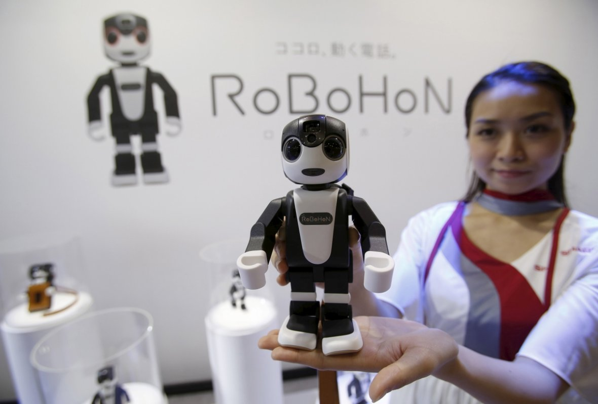 RoboHon and his brother and sister robots