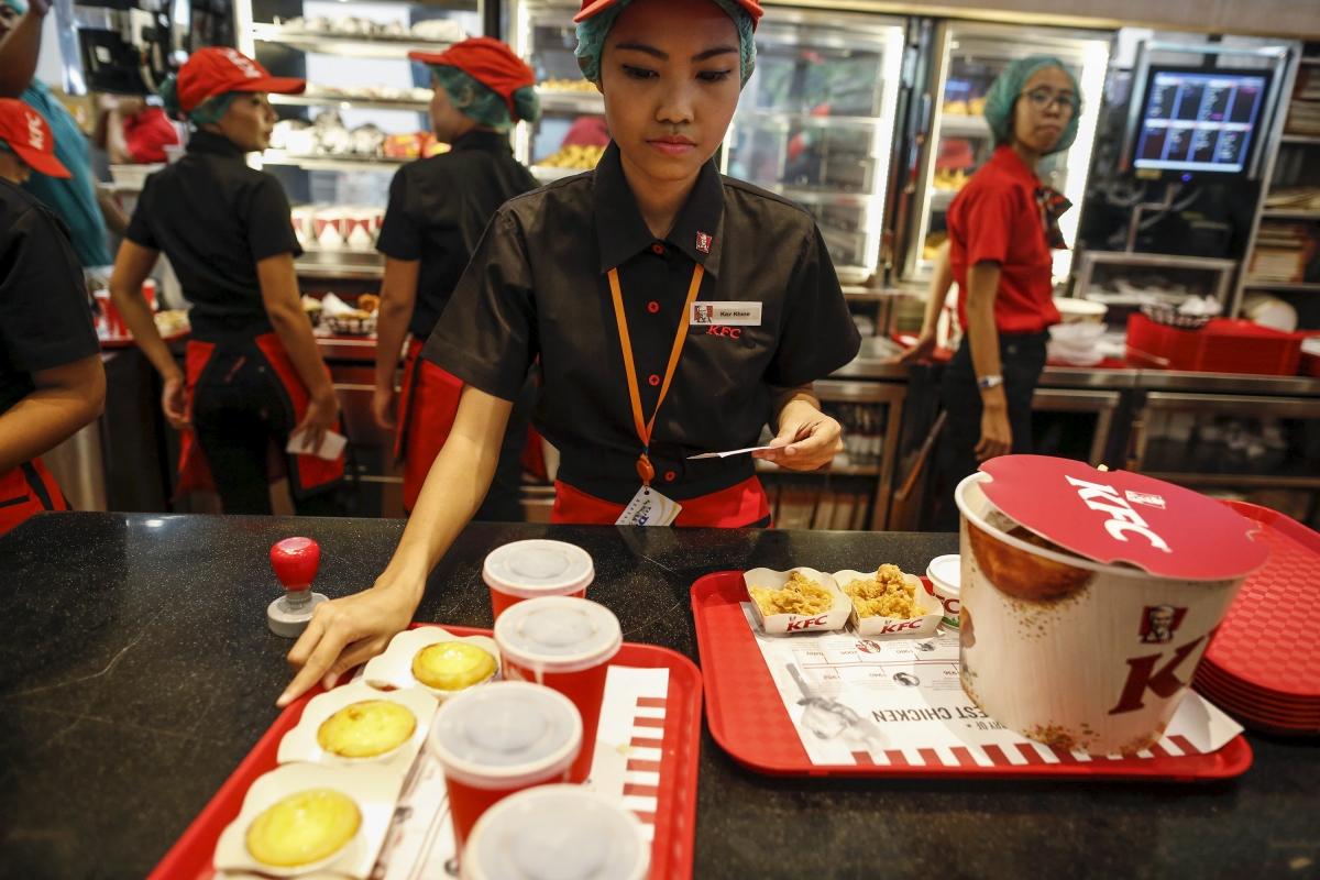 KFC restaurant, Yangon