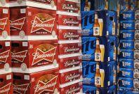 Budweiser and Miller Lite