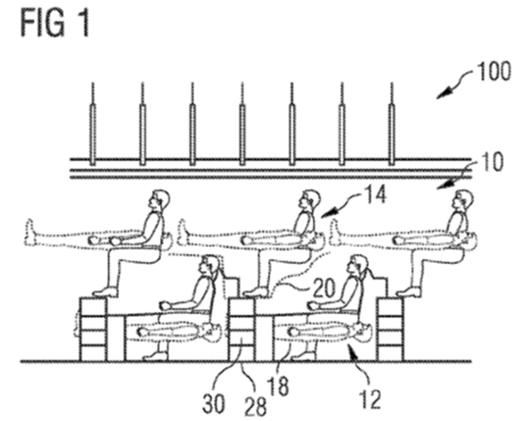 Airbus stacking plane seat design