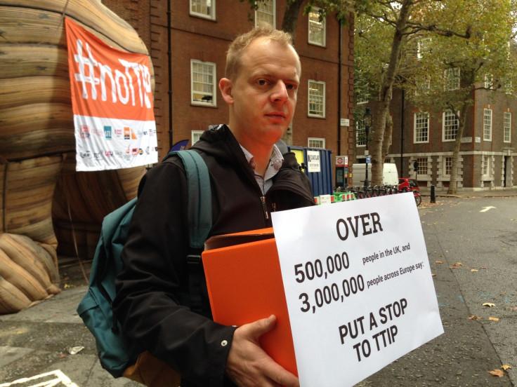 No TTIP campaigners