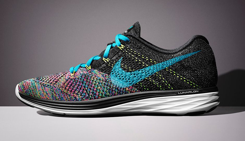 The Nike Flyknit Lunar 3 shoes