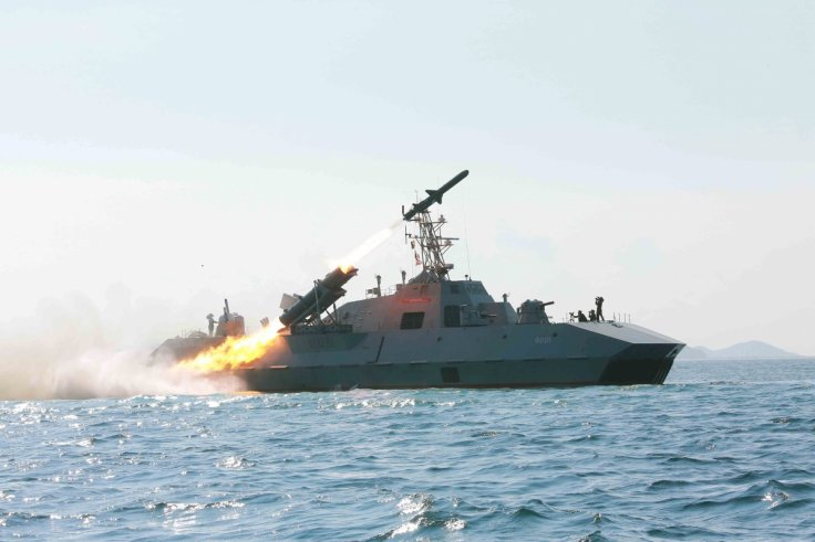Anti-ship missile launch, North Korea