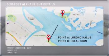 SingPost Alpha Drone test flight