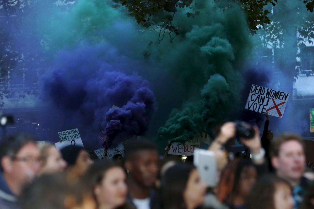 Suffragette film protest