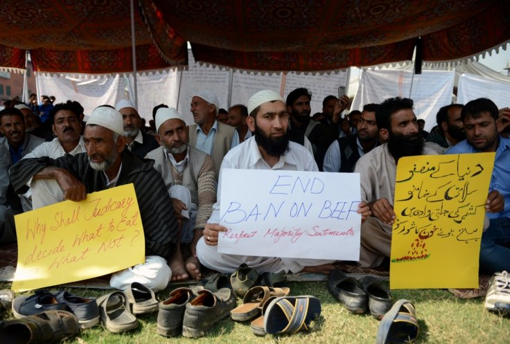 India beef protests in Jammu and Kashmir