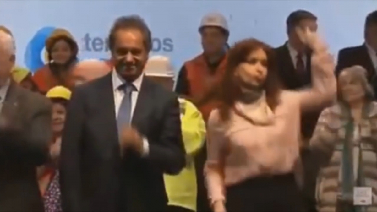 Argentina president dancing
