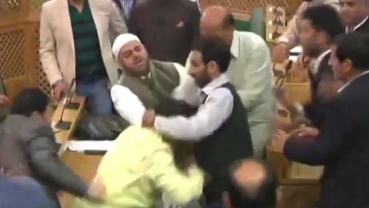 Kashmir assembly fight