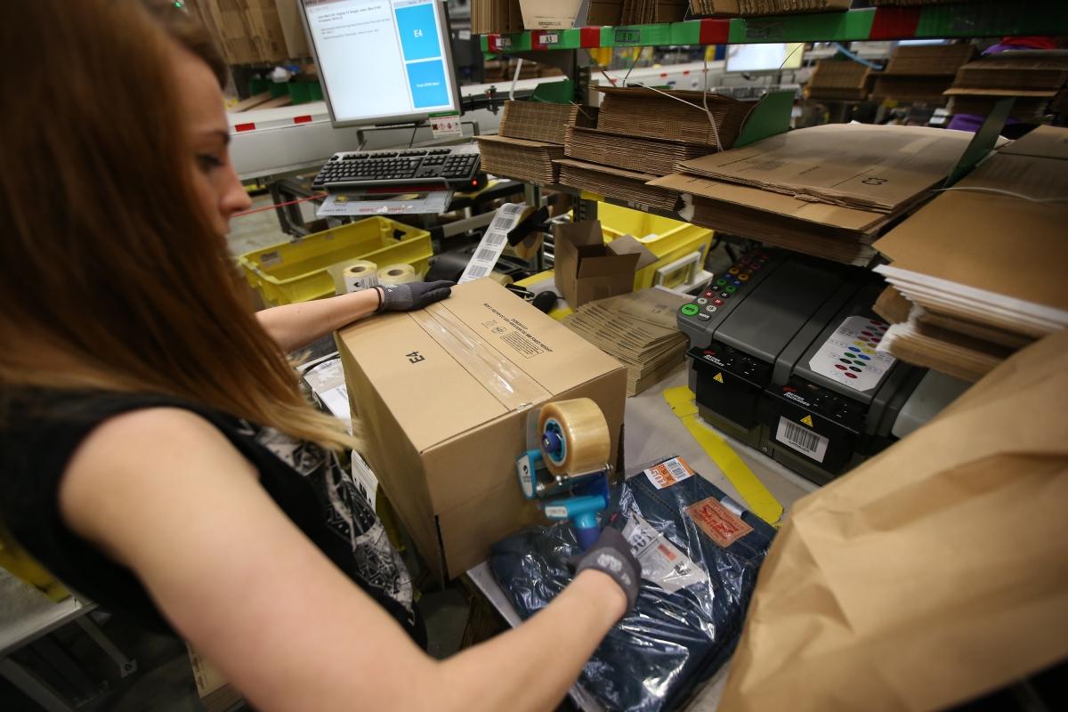 Amazon UK warehouse in Hemel Hempstead