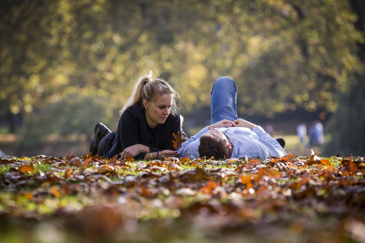 Couple in  St James Park
