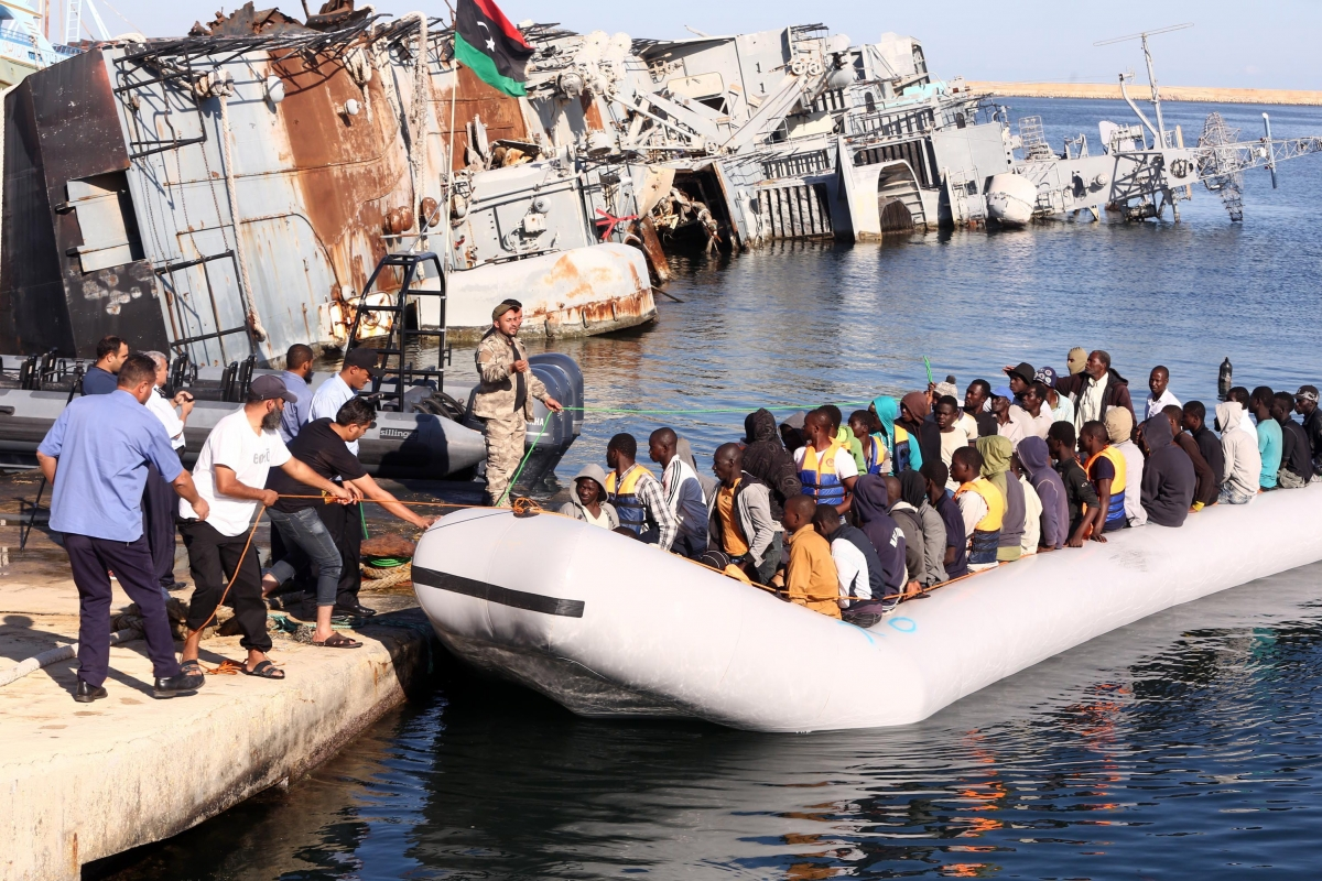 The Libyan coastguard