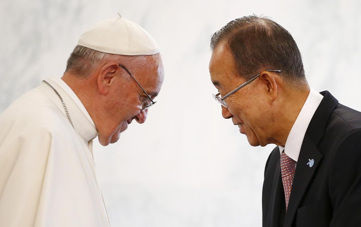 Pope Francis Ban Ki-moon