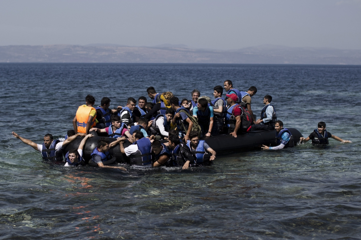 Refugees arriving by boat in Europe