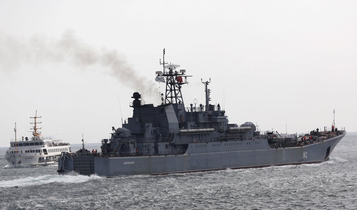 Russian navy ship Novocherkassk