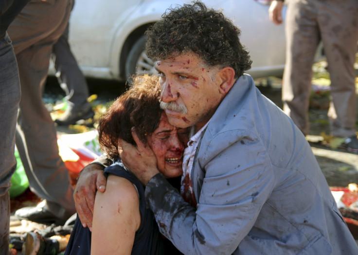 man woman Ankara explosion