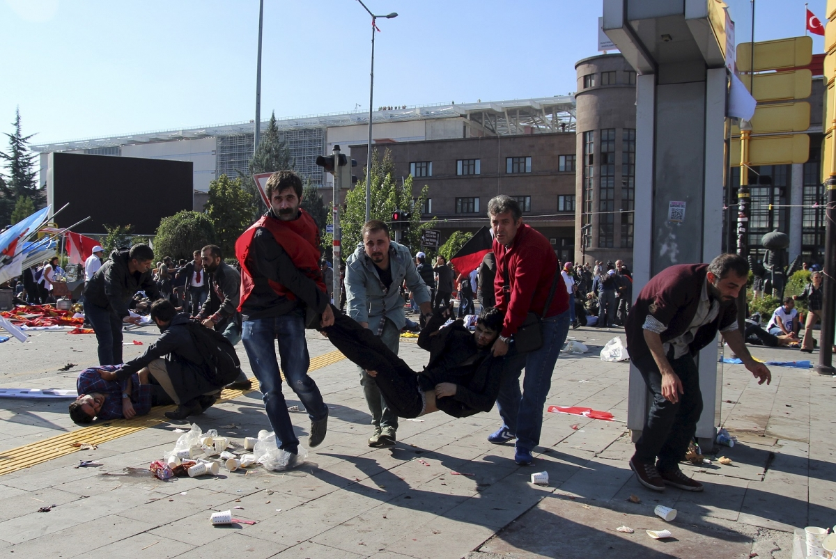 Ankara Turkey bomb explosion wounded men