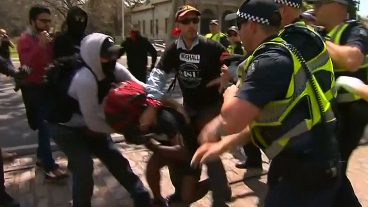 Australia anti-mosque demo
