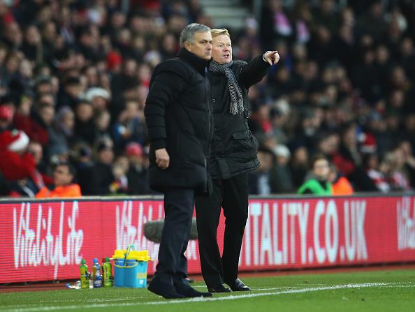Ronald Koeman and Jose Mourinho