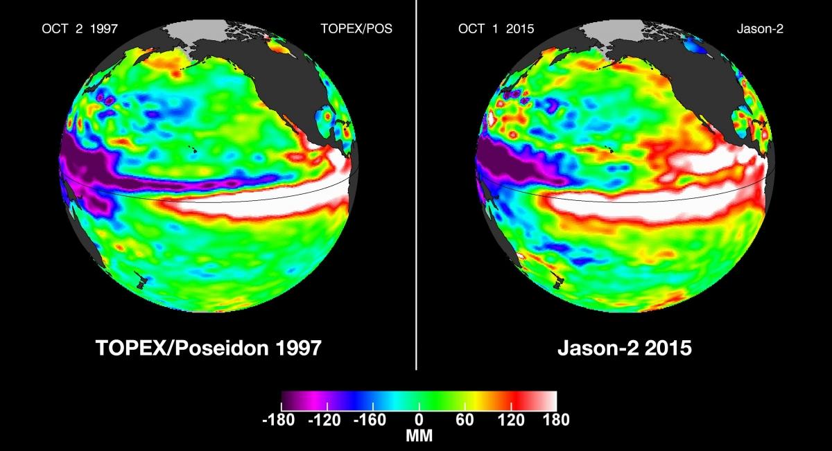 El Nino in 1997 and 2015