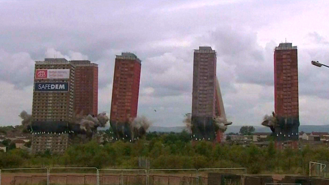 Red Road towers demolition