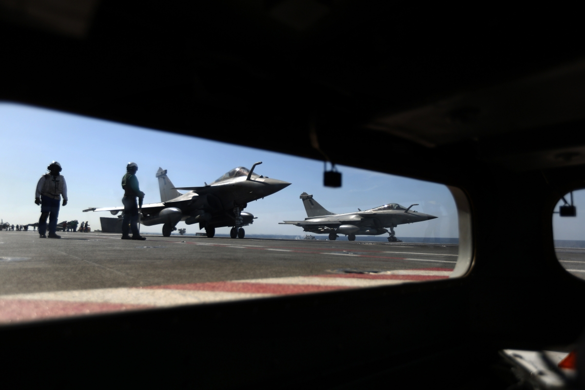 French Navy Rafale fighter jets