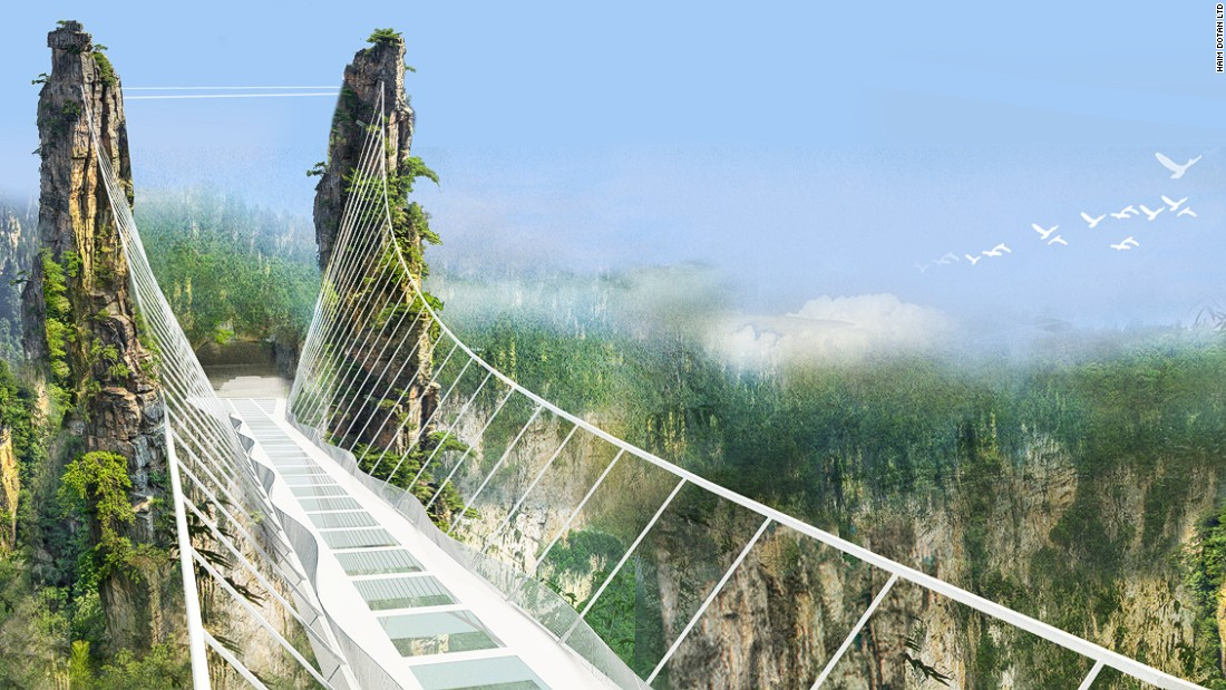 China: Construction begins on world's longest and highest glass bridge