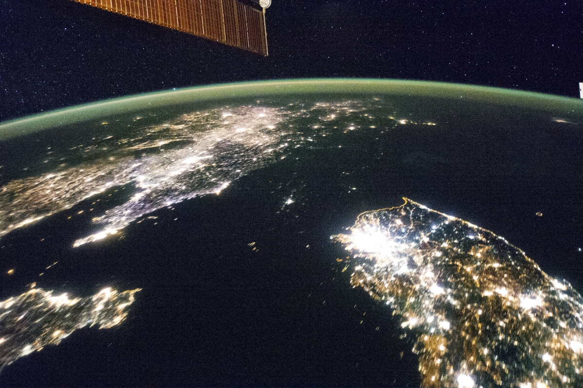 North Korea darkness