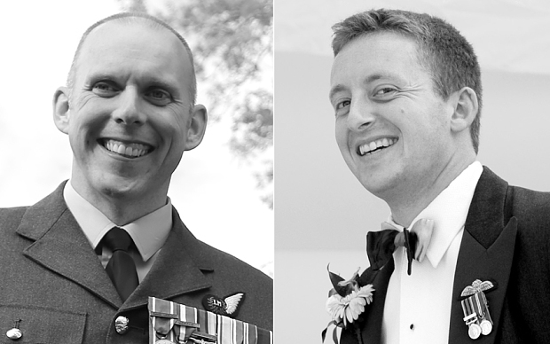 Flt Lts Geraint Roberts and Alan Scott