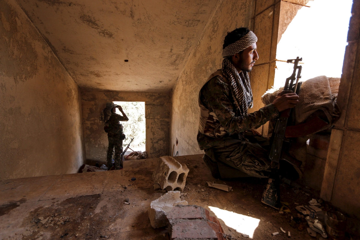 YPG fighters, Hassakeh city