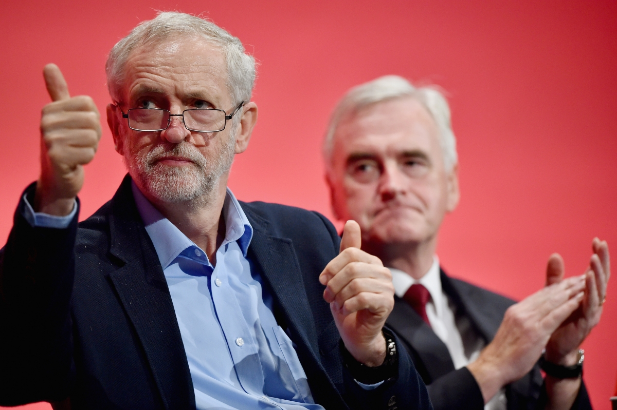 Jeremy Corbyn and  John McDonnell